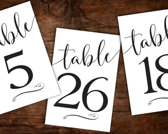 Calligraphy numbers etsy