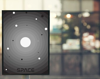 """Movie Quote Posters-Interstellar """"space""""-illustration/typography/lettering"""
