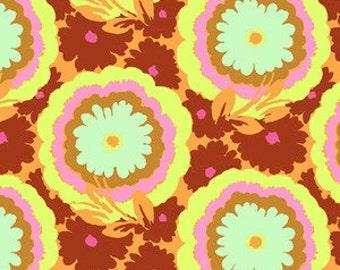 Amy Butler  Soul Blossoms - Buttercups Honeydew - 1/2 yard cotton quilt fabric 516
