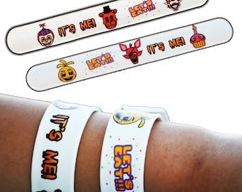 6 Five Nights at Freddys Slap Bracelets / FNAF Brithday Party Favors / Five Nights at Freddy's Party Supplies / FNaF Goody Bags / Goodie Bag
