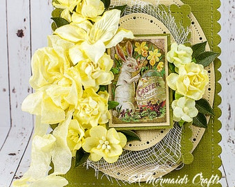 Layered Happy Easter Greeting Card