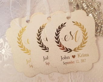 wedding gift tags,shower gift tags,gift tags, custom gift tags, elegant gift tags,chic gift tags,gold gift tgs, gold foil gift tags