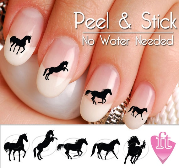 Like this item? - Horse Nail Art Decals Western Horse Nail Art Decal Sticker