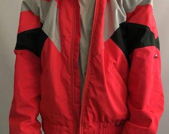 Gore-Tex Reflective Neon Red Coral OBERMEYER Ski Jacket Men's Sz L XL