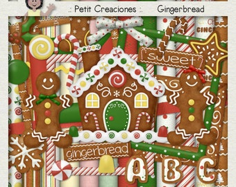 "KIT SCRAPBOOKING DIGITAL ""Gingerbread"""