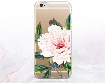 iPhone 8 Case iPhone X Case iPhone 7 Case Peony Clear GRIP Rubber Case iPhone 7 Plus Clear Case iPhone SE Case Samsung S8 Plus Case U72
