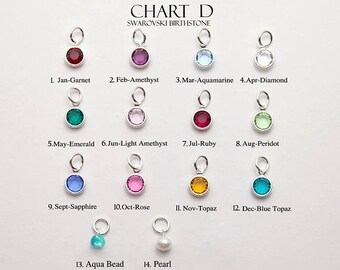 Personalized Birthstone in bezel Add on - You can made your choice of Gold Filled or Sterling Silver and of Stone you want