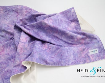 extralarge Modern watercolor purple baby blanket organic flannel cotton LIMITED swaddle blanket quilt watercolour
