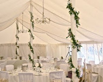 Wedding ivory rose garland perfect for top table or venue decoration or wedding arch