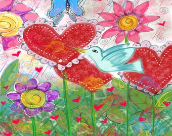 The Love Garden 2018- Mexican Style Art- by Tayde Designs