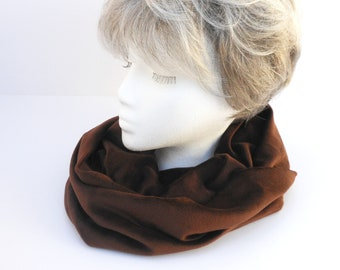 INFINITY Scarf in Chocolate Brown Velour