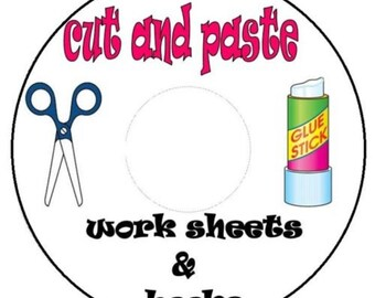 Cut and paste work sheets on cd 600+