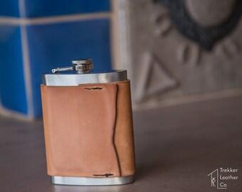 Italian Leather Flask | Custom Flasks | Handmade in the USA | Engraved Flasks