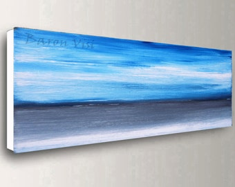 blue grey abstract art Acrylic painting original large canvas wall art home office decor modern palette knife Art Visi made to order custom
