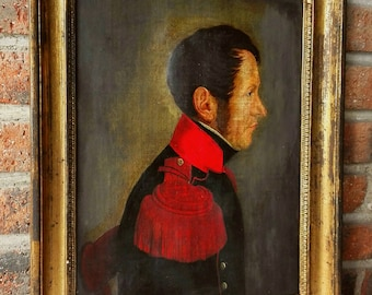 Military portrait of the First Empire. Nineteenth century. France. Oil on canvas.