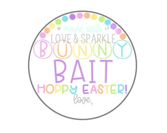 Bunny Bait Easter Tag – Easter Tags – Rainbow Easter Tags – Easter Printable Tags – Hoppy Easter Printables – Instant Download – Bunny Tag