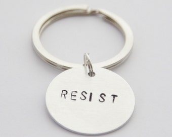 Resist Keychain, Resist Pendant, Resist Jewelry, Planned Parenthood Donation, Resistance Keychain, Nasty Woman Keychain, Civil Rights