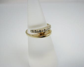 a1088 Stunning Unique Diamond Band in 14k Yellow Gold