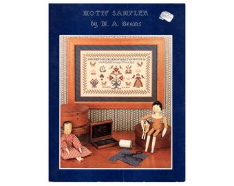 Cross Stitch Sampler Leaflet, Motif Sampler Cross Stitch Pattern, Samplers, Cross Stitch Sampler, Samplers, Cross Stitch, NewYorkTreasures