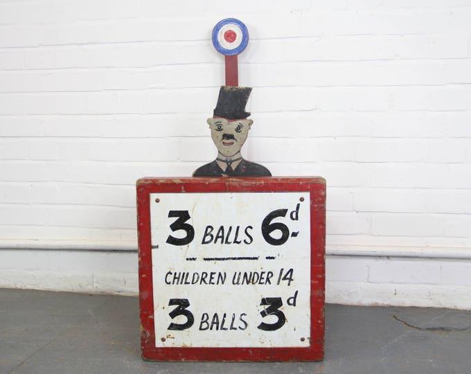 Charlie Chaplin Fairground Game Circa 1930s