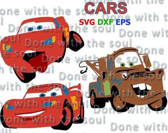 Cars Disney svg - Cars vector - Cars Lightning - Cars McQueen - Cars McQueen svg - Cars Mater - Tow Mater svg - Layer Cutting File