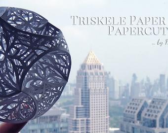 Triskele Paper Globe - Papercut #2 - Personal License