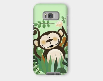 Monkey Samsung Tough Phone Case - Fits Samsung Galaxy All Sizes, Cute Monkey Phone Case