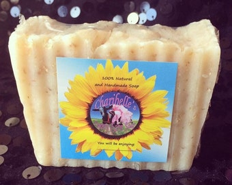 All Natural Exfoliating Oatmeal and Lemongrass Soap 3 oz
