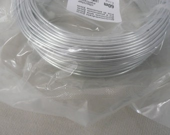 Silver 2 mm aluminum wire / 60 m