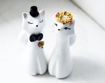 Wedding Cake Topper , Fox Cake Topper, Autumn Cake Topper