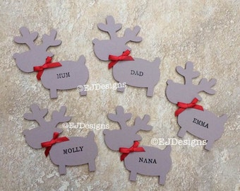 Reindeer table place names, table names, christmas table, place names