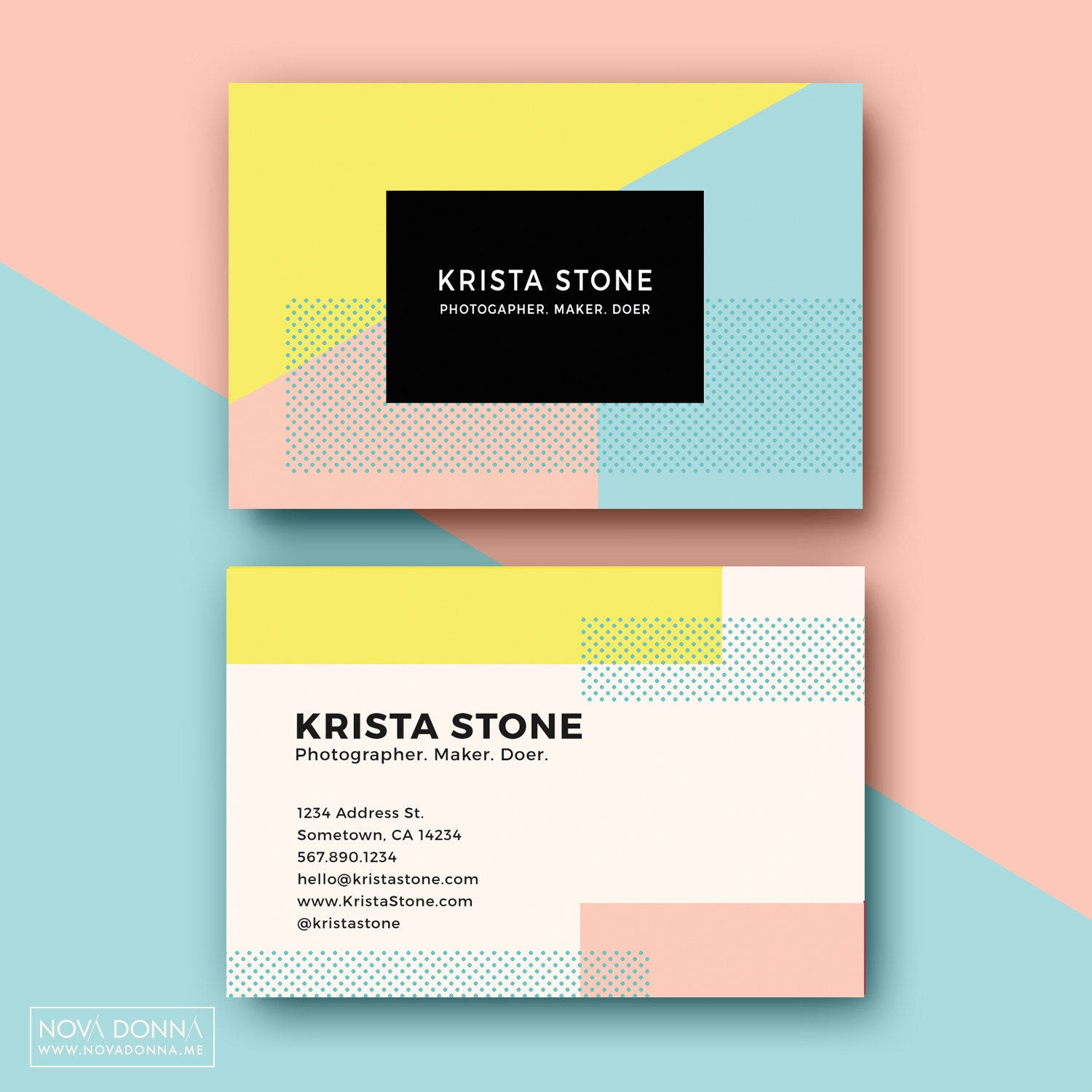 Business Card Layout Template: Business Card Templates Design Customizable Adobe Photoshop