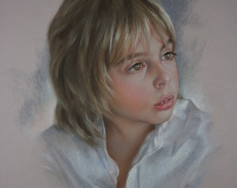 portrait pastel painting from photo