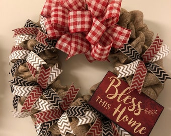 Burlap Wreath by craftNmaryscreations