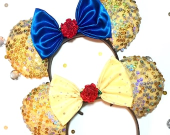Disney beauty and the beast belle Minnie Mouse ears