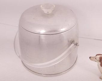 Vintage Kromex Ice Bucket, Retro Ice Bucket, Enduringly Beautiful Aluminum, Vintage Barware, Retro Kitchenware, Vintage Ice Bucket