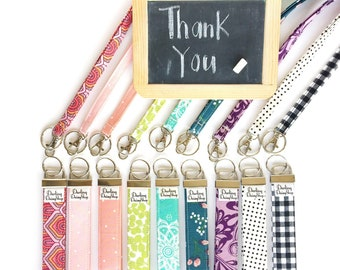 Teacher appreciation gift, Keyfob wristlet. Keyfob holder, Fabric keychain, Fabric wristlet. Gift under 20. Key holder, Fabric lanyard