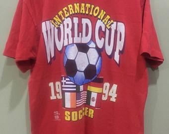 Vintage 1994 World Cup USA Football Promo Soccer T Shirt