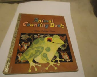 Vintage Animal Counting Book Little Golden Book, Copyright 1969, 584, collectable