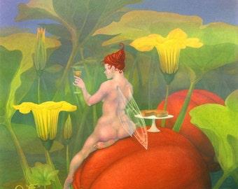 """SALE! - """"The Pumpkin Fairy"""" - fantasy art print"""
