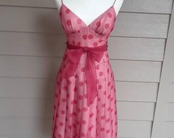 Pin Up Girl Silk Polka Dot Dress