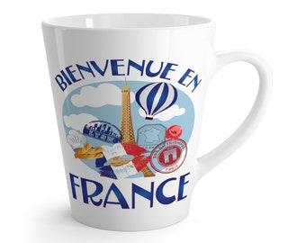 Welcome To France Latte Mug