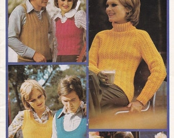ON SALE Patons Knitting Everyone's Treasure  - Vintage 1970s Family Knitting Pattern No 376, Jumpers, Sweaters, Cardigans, Jackets