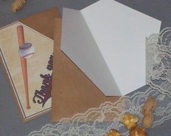 Baseball Thank You Card Set - Baseball Wedding - Rustic Wedding Thank You Cards - Rustic Wedding - Vintage Inspired Baseball Thank You Cards