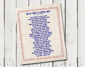He's Just a Little Boy Poem printable - Instant Download