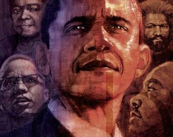 Barack Obama - Limited Edition Print 11 x 17