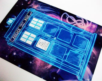 Doctor Who Postcard- TARDIS in Space