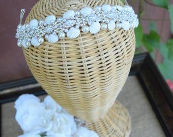 Sea shell rhinestone Headband