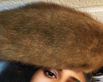 Women's Fur Pillbox Hat Vintage