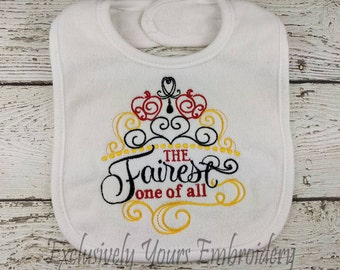 The Fairest One of All Baby Bib